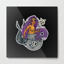 Mermaid Scylla Metal Print