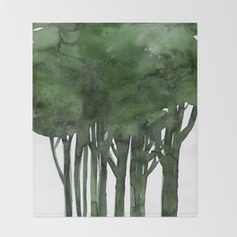 Tree Impressions No.1C by Kathy Morton Stanion Throw Blanket