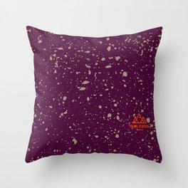 Trail Status / Orange Throw Pillow