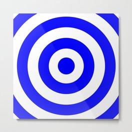 Target (Blue & White Pattern) Metal Print