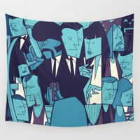 pulp Wall Tapestries featuring PULP FICTION variant by Ale Giorgini