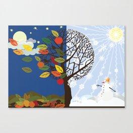 """Seasons"" Autumn-Winter Canvas Print"