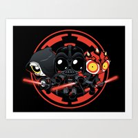 dark side Art Prints featuring Dark Side by Dooomcat
