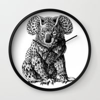 bioworkz Wall Clocks featuring Koala by BIOWORKZ