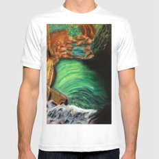 Over the falls Mens Fitted Tee MEDIUM White