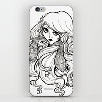 art nouveau iPhone & iPod Skins featuring Art Nouveau by Sweeney Boo