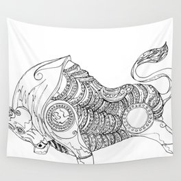 bull rampage Wall Tapestry