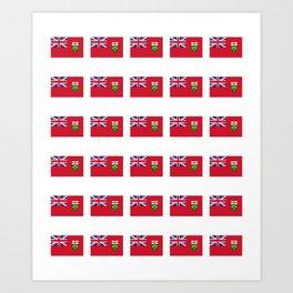 Flag of ontario -ontarian,ontarien,toronto,ottawa,heartland,huron,hamilton. Art Print