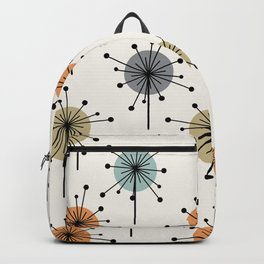 Midcentury Sputnik Starburst Flowers Colorful Backpack