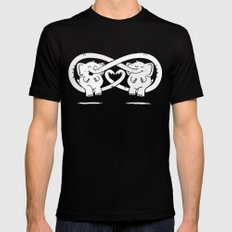 Friends  SMALL Mens Fitted Tee Black