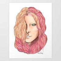 lily Art Prints featuring Lily by Alexandra Davidoff
