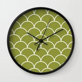 Scales - green Wall Clock
