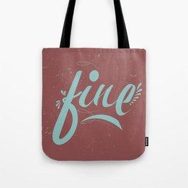 FINE & Marsala Tote Bag
