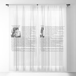 Good Wife's Guide Sheer Curtain