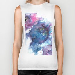 Blue Abstract Art Painting Biker Tank