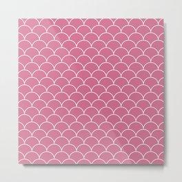 Scalops Bubblegum Metal Print