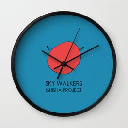 SKY WALKERS by ISHISHA PROJECT Wall Clock