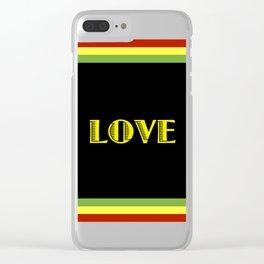 Jah Love Clear iPhone Case
