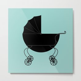 Baby Carriage Metal Print