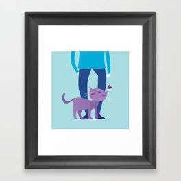 I dislike you the least Framed Art Print