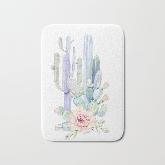 Mixed Cacti 2 #society6 #buyart Bath Mat