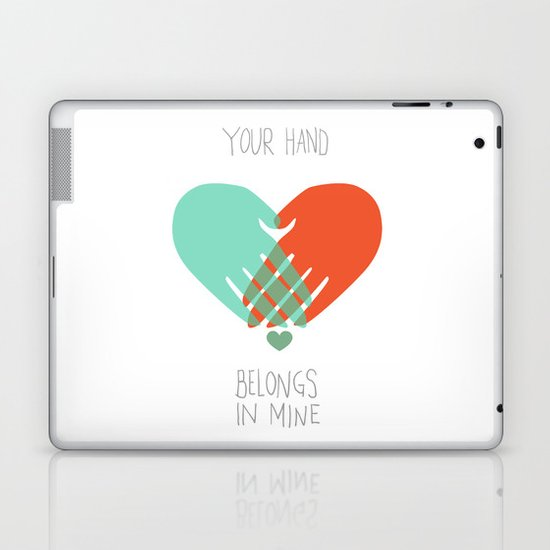 I wanna hold your hand Laptop & iPad Skin