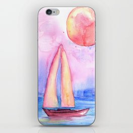sail under the moon iPhone Skin