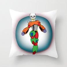 MIGHTY SKULL Throw Pillow