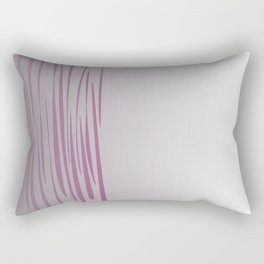 Wild ethnic lines pink grey Rectangular Pillow