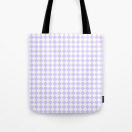 White and Pale Lavender Violet Diamonds Tote Bag