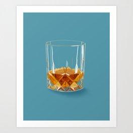 Whiskey Neat Art Print