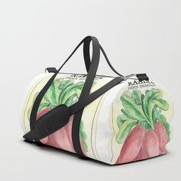 Radish Seed Packet Duffle Bag
