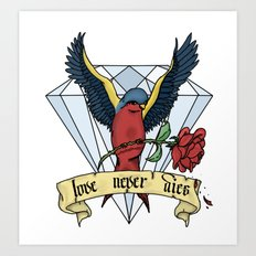 Love Never Dies swallow Art Print