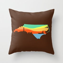 North Carolina Throw Pillow