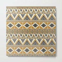 Contemporary African Mud Cloth Print no.2 Metal Print