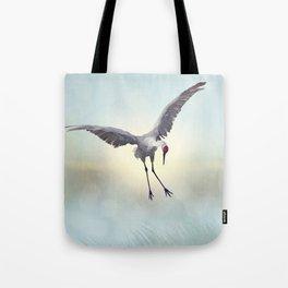 Sandhill Crane painting.Digital art. Tote Bag