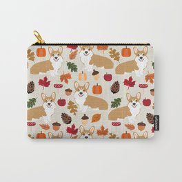 Corgi Autumn Fall woodland pillow phone case cute corgi design corgi dog pattern corgis love Carry-All Pouch