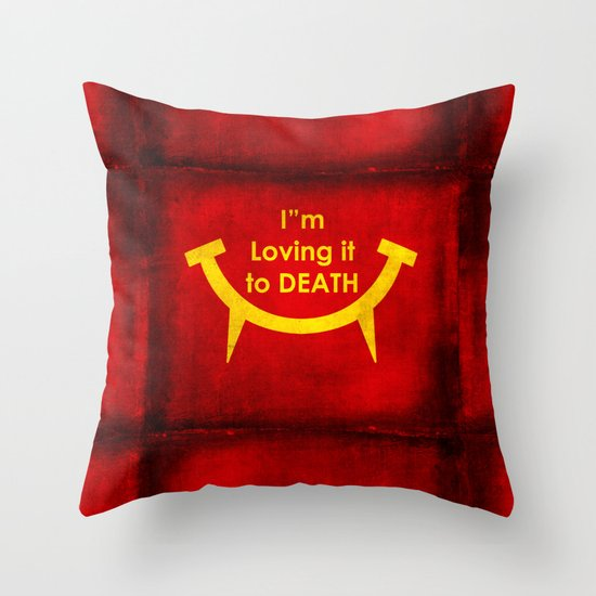 McViper the zombie and vampire fast food chain, Bloody good food is our motto! Throw Pillow