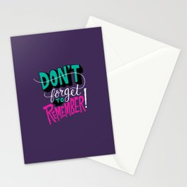 Don't Forget to Remember. Stationery Cards