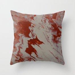 Orange Creamsicle Pour Throw Pillow