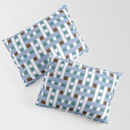 Cross Stitch Quilt Latter Design Chutes Weave Pillow Sham