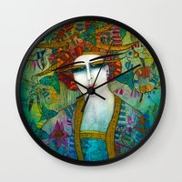 aquarius Wall Clocks featuring AQUARIUS by ALBENA