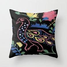 Mexican Bird Throw Pillow