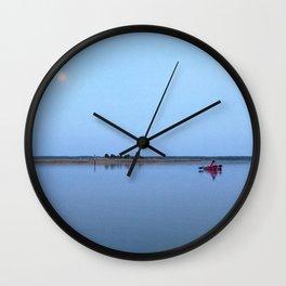 Watercolor Nightscape, Janes Island 01, Maryland Wall Clock