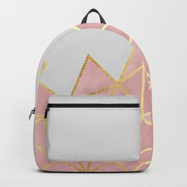 Pink & Gold Geometric Backpack