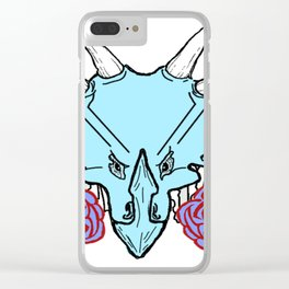 Lady Triceratops Clear iPhone Case