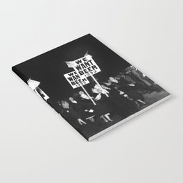 We Want Beer Too! Women Protesting Against Prohibition black and white photography - photographs Notebook