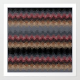 "Abstract pattern ""Black and red wave"" . Art Print"