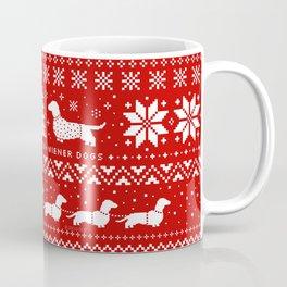 Love Joy Peace Wiener Dogs Coffee Mug