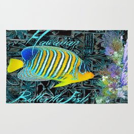 Hawaiian Butterfly Fish Rug